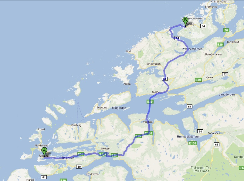 Touring West Norway Day The Atlantic Road A New Life In Norway - Norway highway map